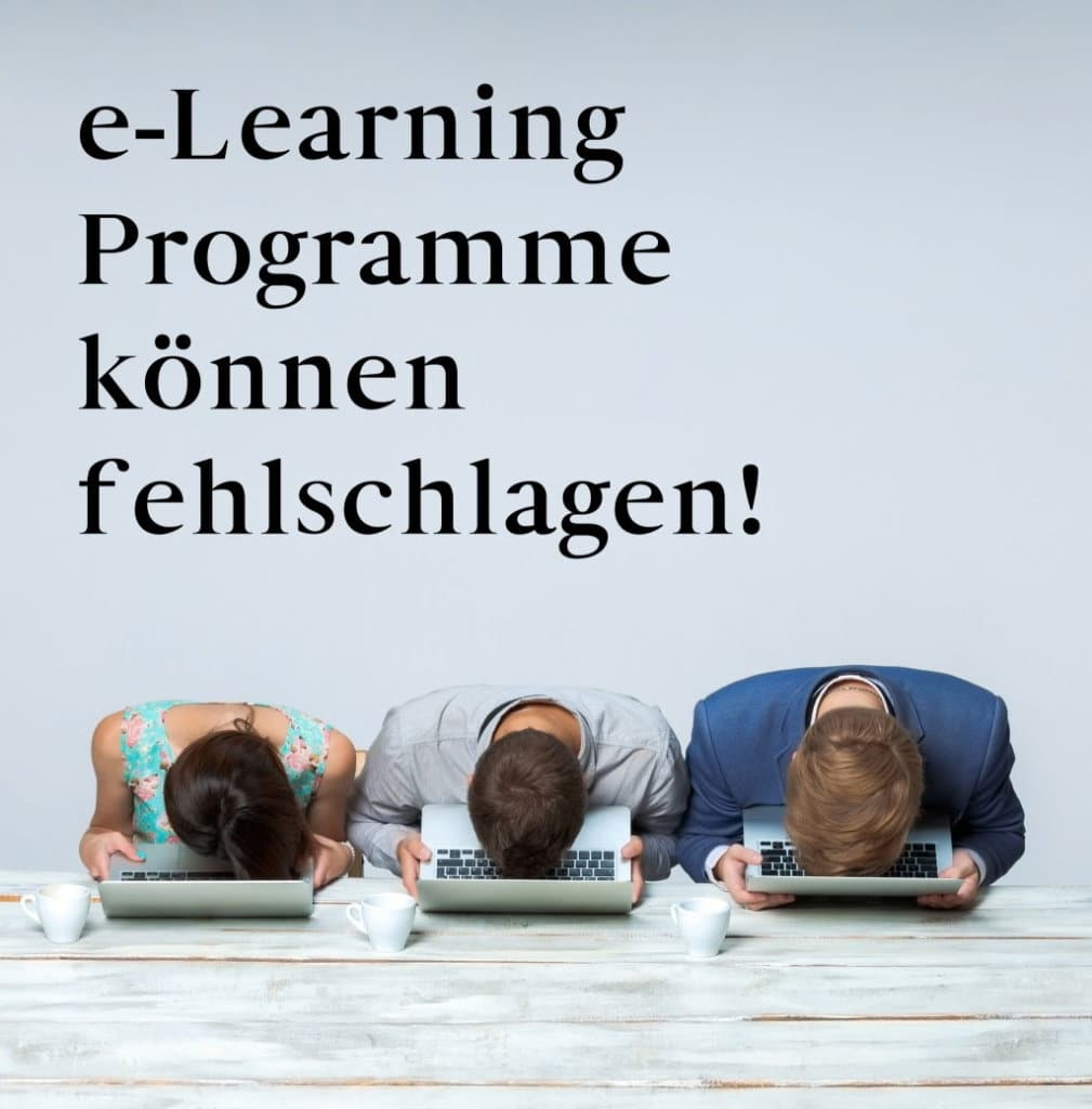 6 Gründe warum e-Learning-Programme scheitern können 3