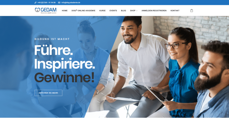 E-Learning Portal Online DISG AKADEMIE 1