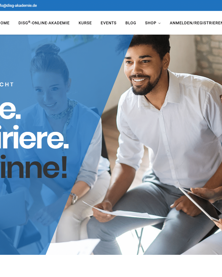 E-Learning Portal Online DISG AKADEMIE 2