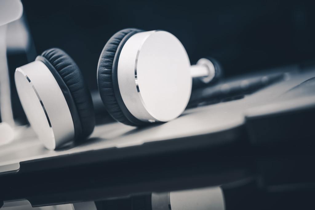 Listening Audiobooks Concept